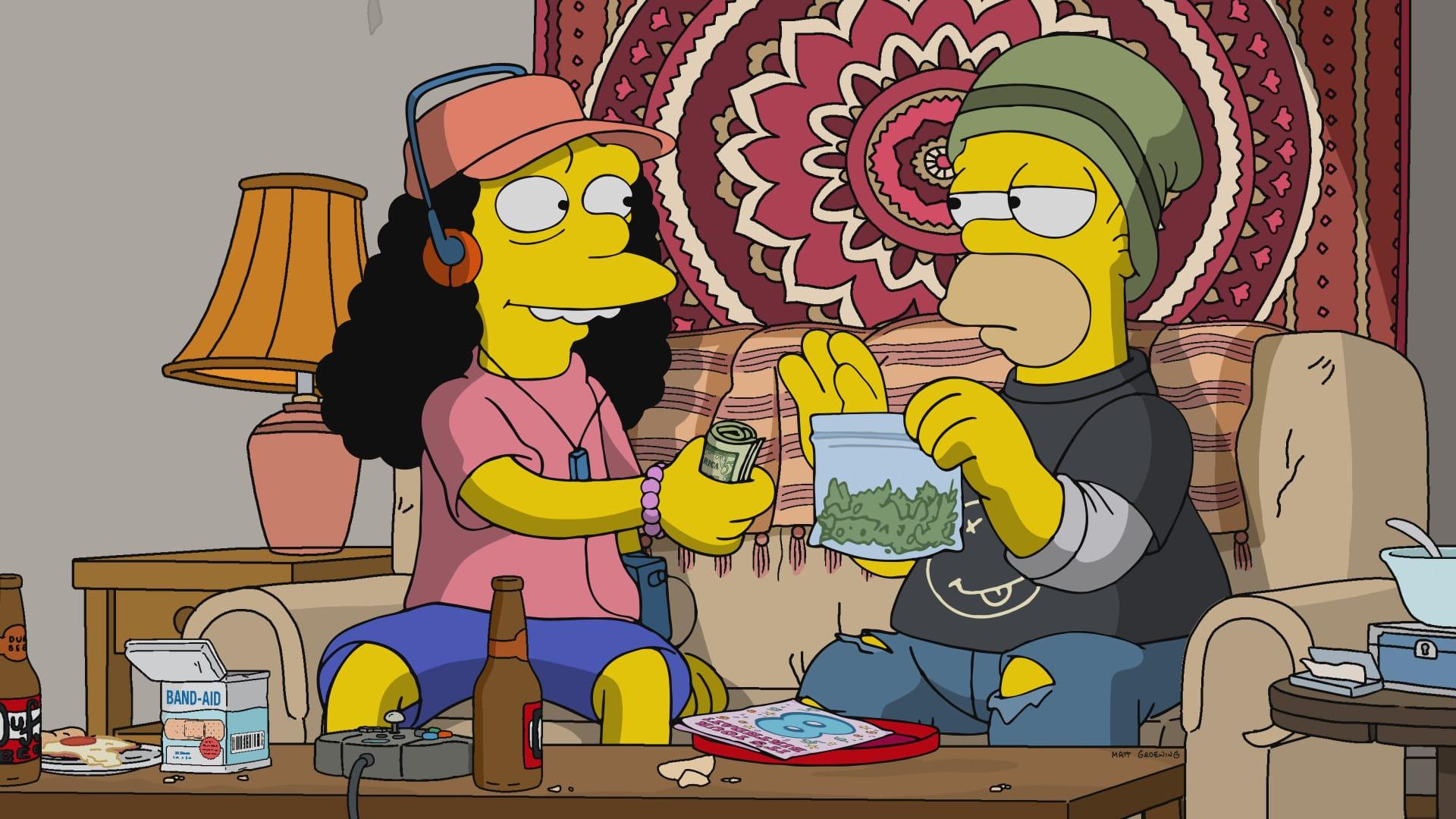 Les Simpson - Droit au puits