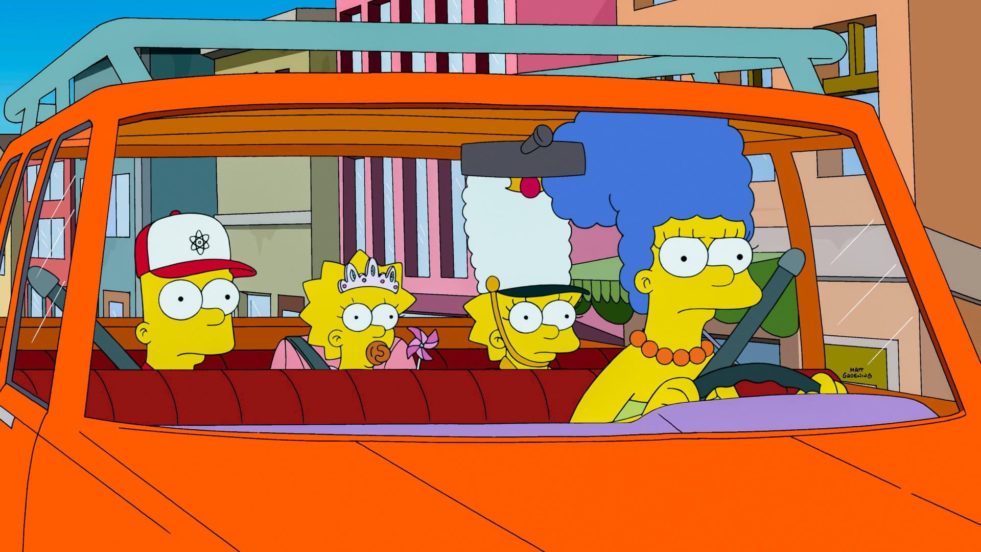 Les Simpson - Taxi girl