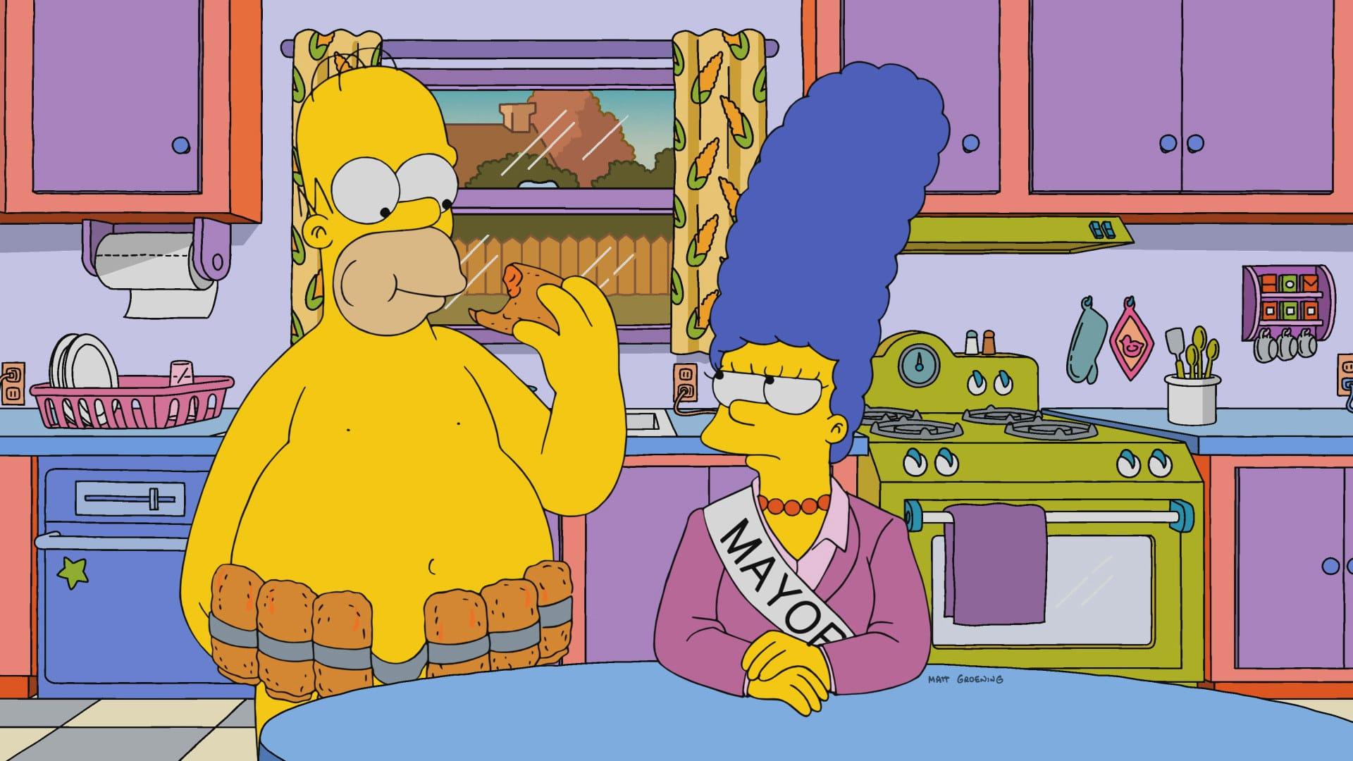 Les Simpson - La maire est belle