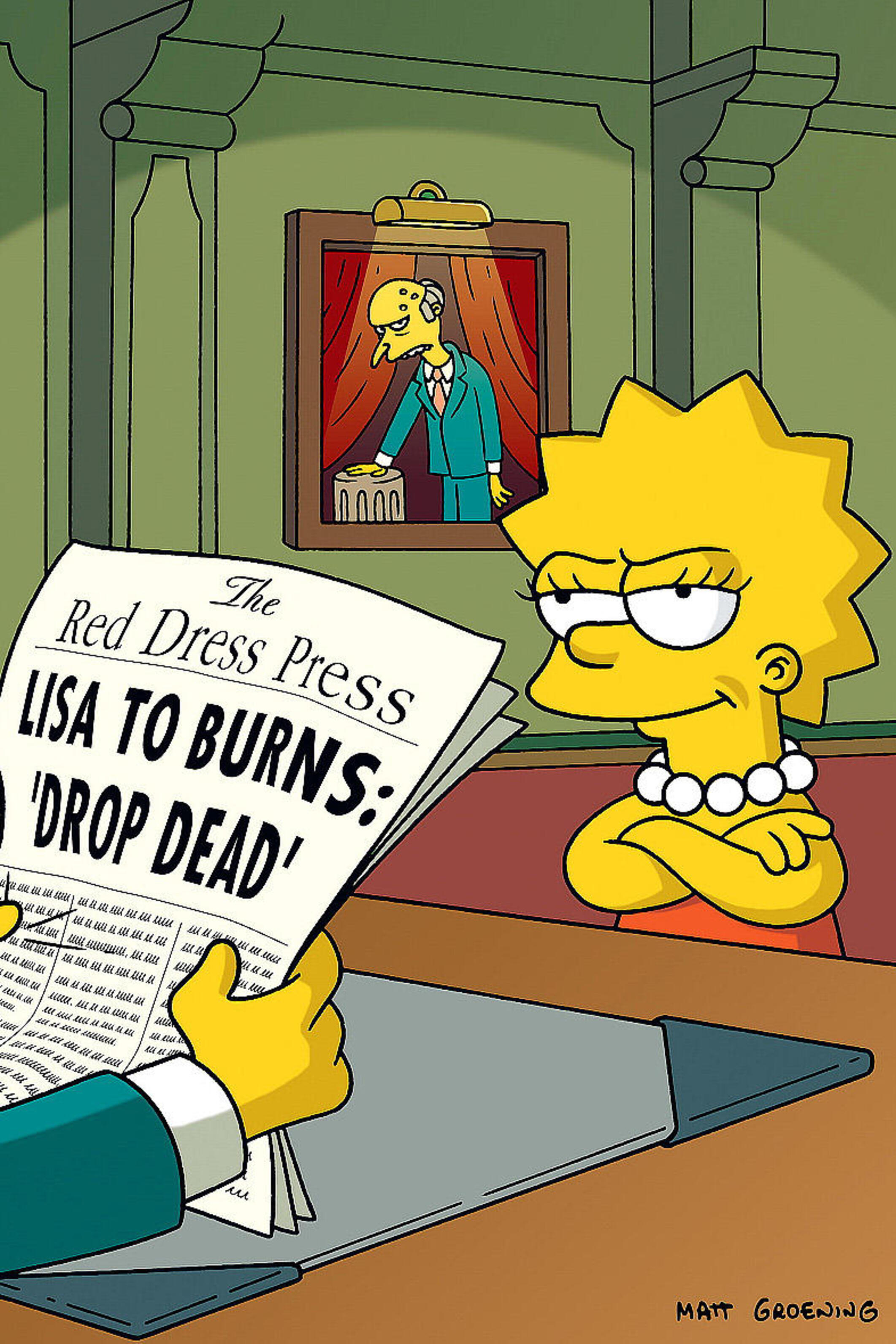 Les Simpson - Le drapeau... potin de Bart