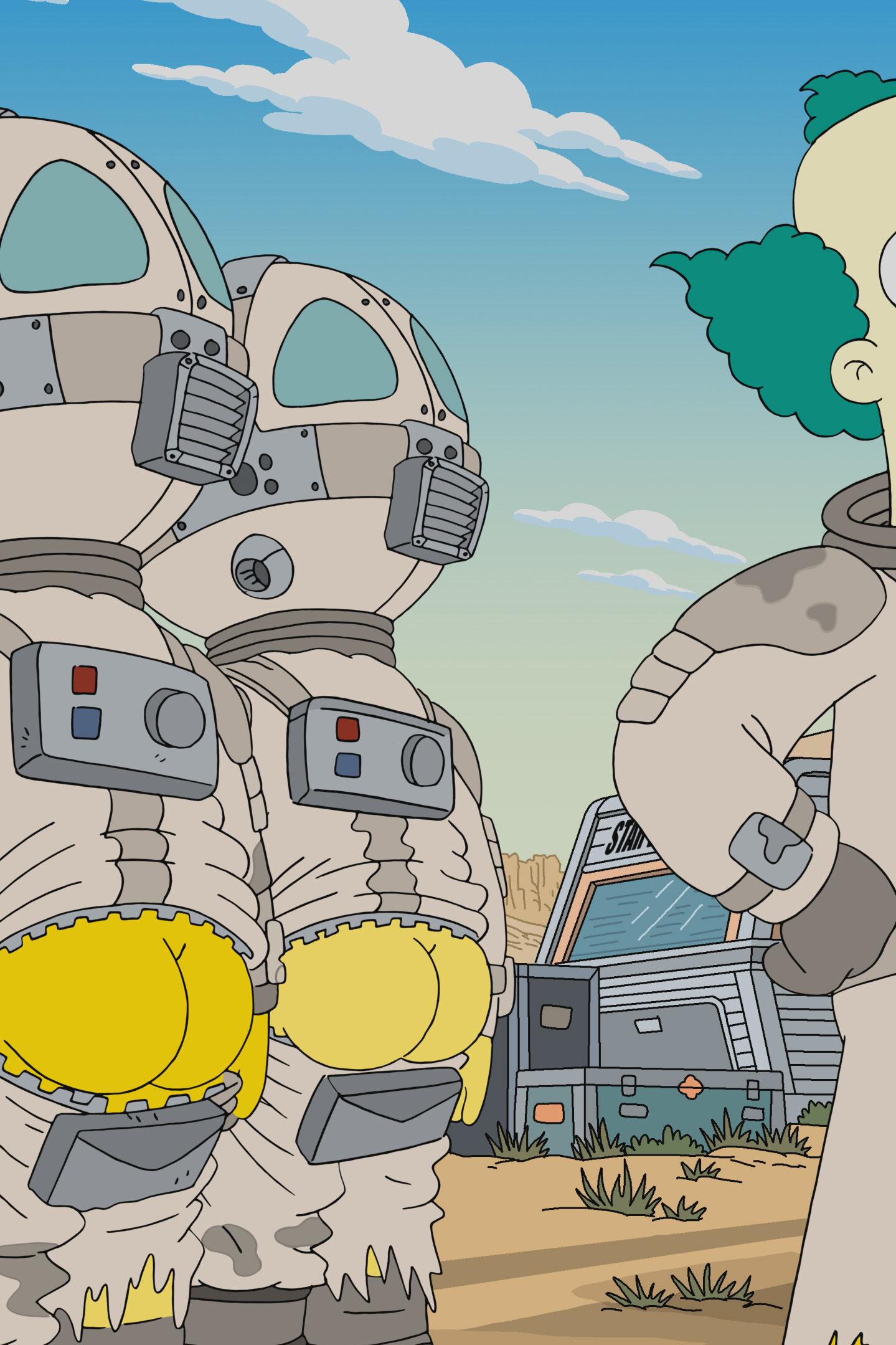 Les Simpson - Le clown reste sur la photo